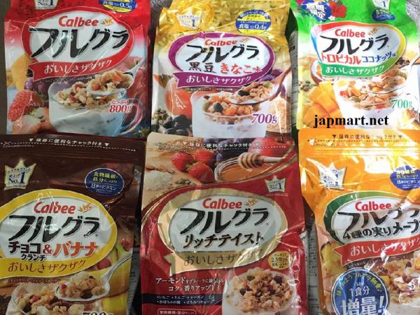 ngũ cốc Calbee của Nhật Bản